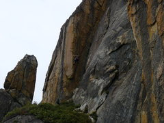 Rock Climbing Photo: Kent Schmits on, Golden Eye Arete. 5.10c