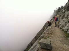 Rock Climbing Photo: Kendall Katwalk after a long foggy day on Mt Thomp...