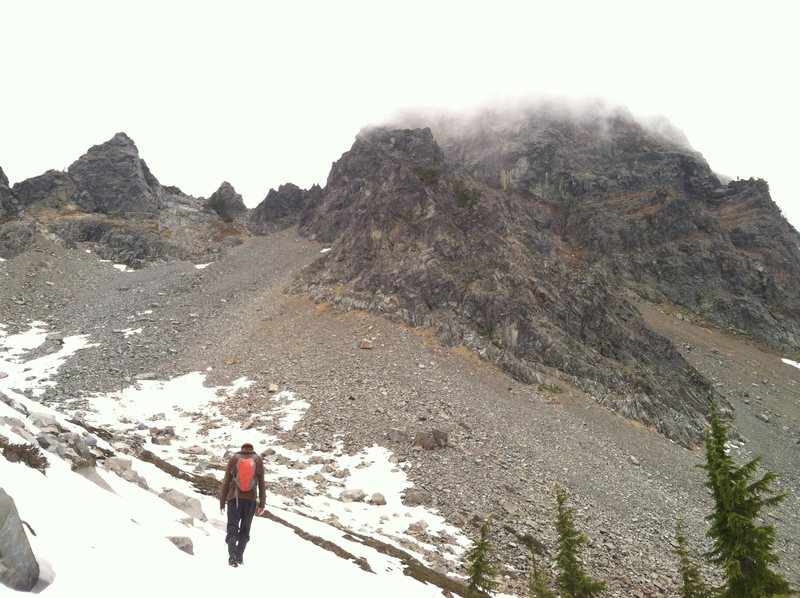 "The lower half of Mt Thompson, right before ""Pulling the Adventure Card"""
