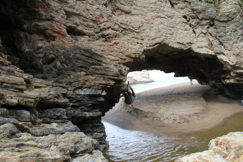 Rock Climbing Photo: Arch Rock, Point Reyes, CA undeveloped