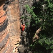 Rock Climbing Photo: Kyle C. on Old Grey Mare