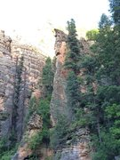 Rock Climbing Photo: Does anyone know what the line is that goes up the...