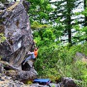 Rock Climbing Photo: The Bouncer, Bridge of da Gods V5