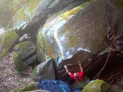 Rock Climbing Photo: Eric Gifford cranking out the FA on this classic l...