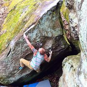 Rock Climbing Photo: Eric Gifford on the FA of the Mosquito