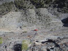 Rock Climbing Photo: Coming up P4
