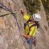 climbing Directa as Cimas, 5.11a (Riglos, Spain)