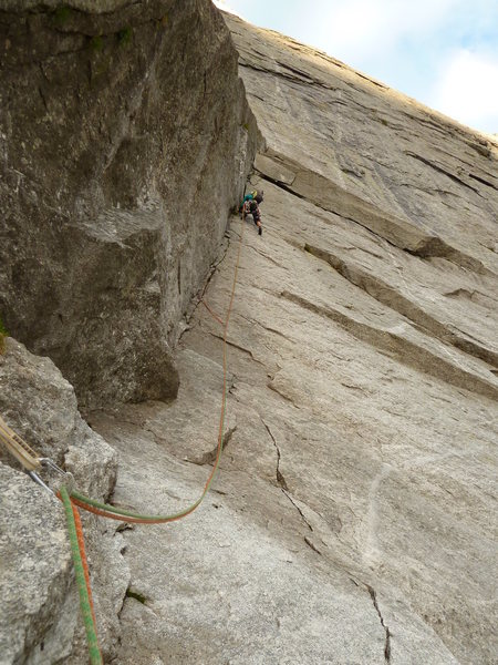 Rock Climbing Photo: Climbing Cassin route, Piz Badile