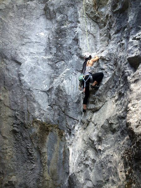 on the crux section, blind..<br>