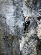 Rock Climbing Photo: on the crux section, blind..