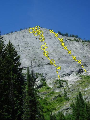 Rock Climbing Photo: Slickrock - Regular and Memorial routes
