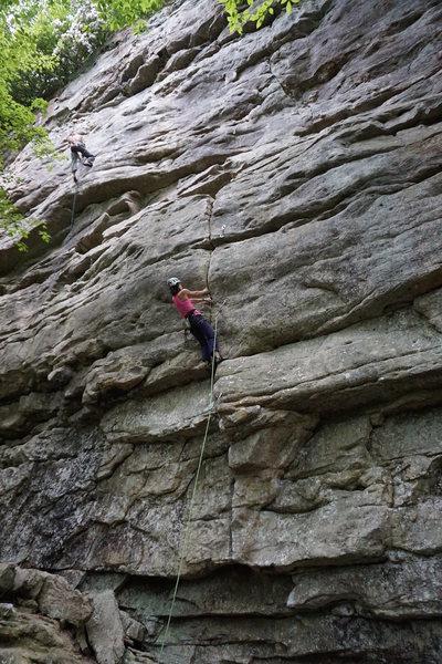 Rock Climbing Photo: Erica in the fun crack section