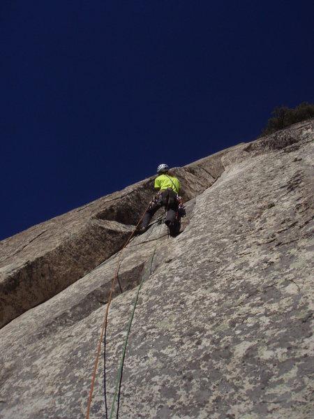Rock Climbing Photo: Esteban Altieri, 5.10b La Cabrera, Spain