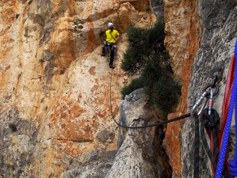 Rock Climbing Photo: Costa Blanca, 5.11d Peñón de Ifach
