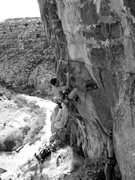 Rock Climbing Photo: David on Open Range 5.11+, Cronyism Area.