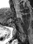 Rock Climbing Photo: David on Open Range.