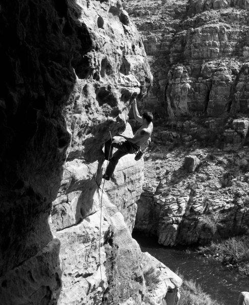 Rock Climbing Photo: Wade on The Inner Ear 5.10+, Cronyism Area.