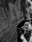 Rock Climbing Photo: Tom off of Busted Tooth.