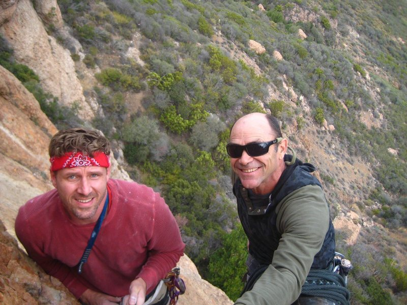 Rock Climbing Photo: Summit photo on The Serpent with Brian Morin.