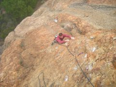 Rock Climbing Photo: Brian Morin on the second pitch of Head Wound