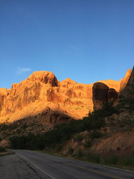 Rock Climbing Photo: Veiw from road