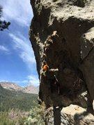 Rock Climbing Photo: Dan starting the route Reach, finishing with an ea...