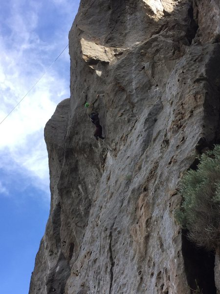 Dan H working the first crux of King of Goddamns