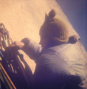 Rock Climbing Photo: FA Mescalito (The End All Wall), Steve Sutton abov...