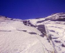 Rock Climbing Photo: FA Mescalito (The End All Wall), Steve leading the...
