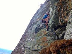 Rock Climbing Photo: P3 roof.
