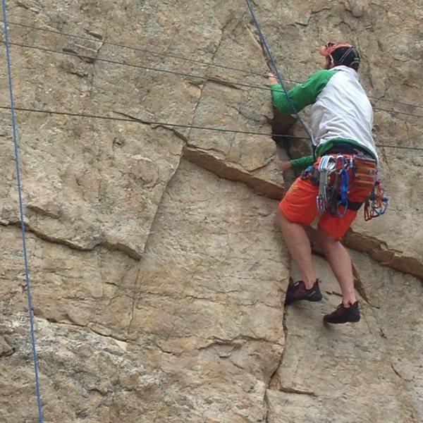 Rock Climbing Photo: Damn wires!