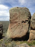 Rock Climbing Photo: Start of chimney can be seen on right side of boul...