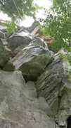 Rock Climbing Photo: The Link-Up  The rope line is not straight as woul...