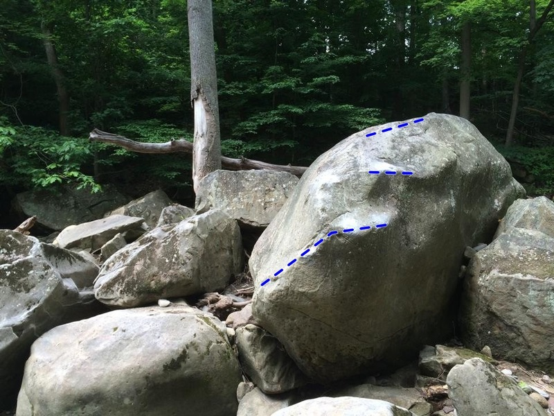 the ill communication boulder. SDS down and left, climb slopey holds up and right then straight up to top out. feet are dicey, so hope you got good open hand strength cause you will need it