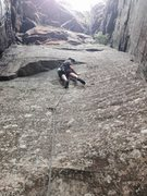 Rock Climbing Photo: This is me at the second bolt. I could reach the j...