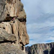 Rock Climbing Photo: Womb fight.