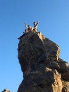 Rock Climbing Photo: waving