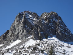 Rock Climbing Photo: A view of the east face of Crystal Crag. The route...