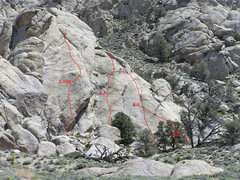 Rock Climbing Photo: Routes on the right side of Raven Haven