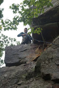 Rock Climbing Photo: Reaching the anchors of Fraggle Fox, shared with F...