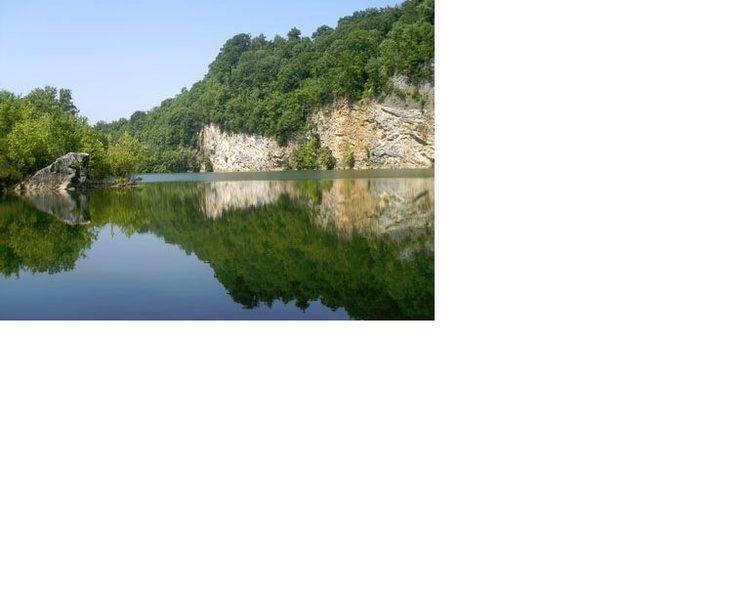 Rock Climbing Photo: more limestone along tn river in knox