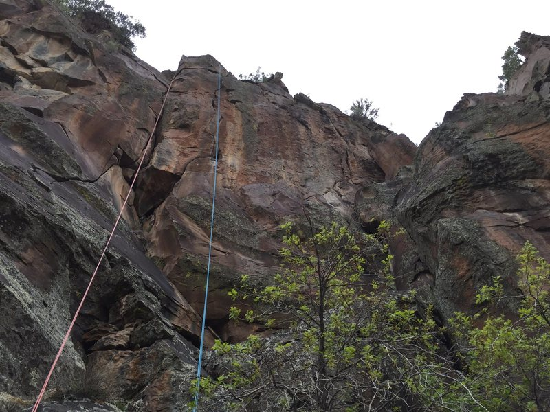 Rock Climbing Photo: The line with the blue rope. Orange rope is bangar...
