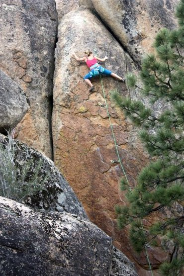 Road Crew (5.12a), Holcomb Valley Pinnacles