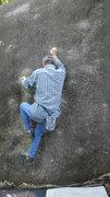 Rock Climbing Photo: Mr. I-hara on Ichinan. Photo by me.