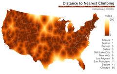 distance to nearest climbing