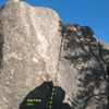 Bear Pause (5.7), Holcomb Valley Pinnacles