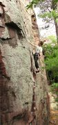 Rock Climbing Photo: Stewart Korte of the HWDAMF just at the Pin