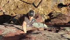 Rock Climbing Photo: Josh Knapp of the WHDAMF enjoying his retro OS