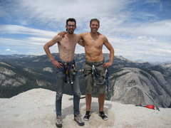 Rock Climbing Photo: Summit Shot from regular NW face Half Dome. Ryan's...