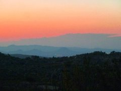 Rock Climbing Photo: Sunset from Bowen Ranch Road, San Bernardino Mount...